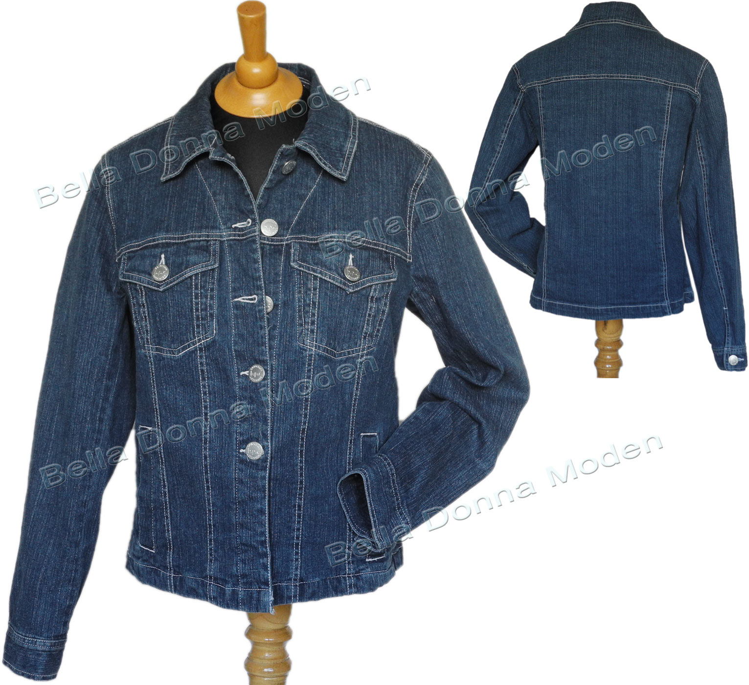 damen jeansjacke stretch jacke blue denim ebay. Black Bedroom Furniture Sets. Home Design Ideas