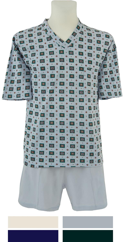 herren shorty pyjama kurz mod lars bedruckt 4 farben auswahl. Black Bedroom Furniture Sets. Home Design Ideas