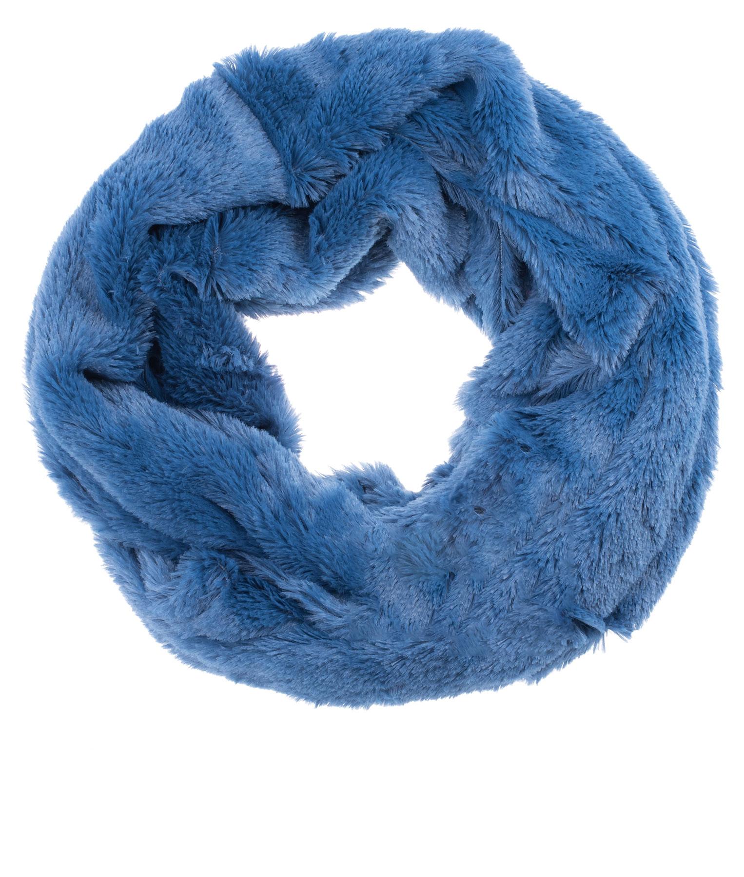 ♥ Kuschel Loop Kuschelloop Schlauchschal Plüsch-Schal Mütze Teddy d.blau ♥ NEU